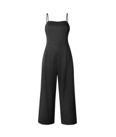 Newest Summer Elegant Women Solid Jumpsuits Romper Trousers Casual Sexy Sleeveless Zipper Office Lady Bodycon Jumpsuit 2019....