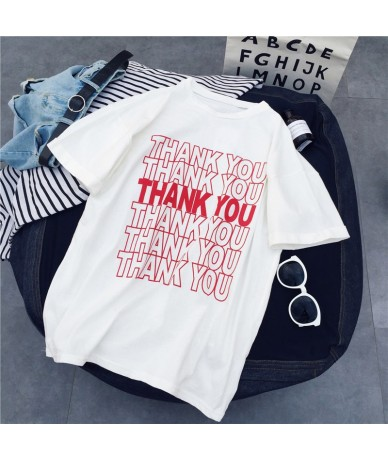 thank you funny T-shirt women camisetas graphic grunge tumblr quote aesthetic vintage 90s fashion harajuku tshirt tops fit t...