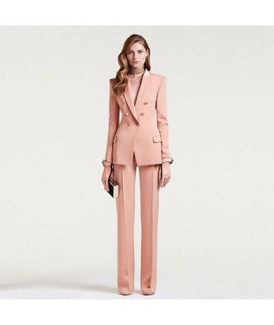 Women's Business Suit Female Office Uniform Ladies Formal Trouser Suit Double Breasted Women's Tuxedo Custom - custom color ...