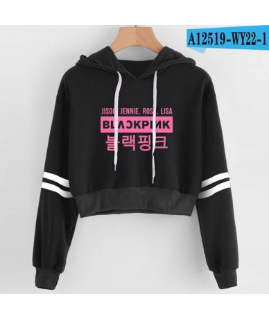 2019 Korean Women Sexy Harajuku Kawaii Kpop Blackpink Hoodie Print Hot Female Pink Coat Hip Hop Pullover Hoodies Sweatshirts...