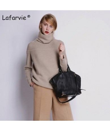 Loose Turtleneck Autumn Winter Sweater Women Thick Warm Pullover and Sweater Soft Long Sleeves Jumper Femme Pull 4Color - ca...