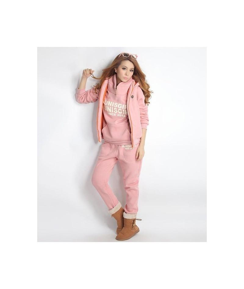 2019 3pcs Women set suits Long Sleeve Tracksuit Hoodies+Long Pants winter sports suit Jogging Running Suits Sportswear - Pin...