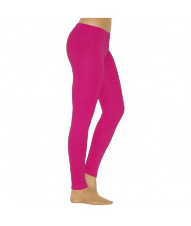 2019 Solid Leggings Women Fashion Low Waist Workout Polyester Leggings Jeggings Slim Fitness Leggings Trousers For Women - r...