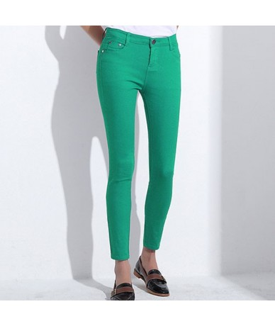 Skinny Women's Candy Pants Pencil Trousers 2018 Spring Fall Khaki Stretch Pants For Women Slim Ladies Jean Trousers Female -...