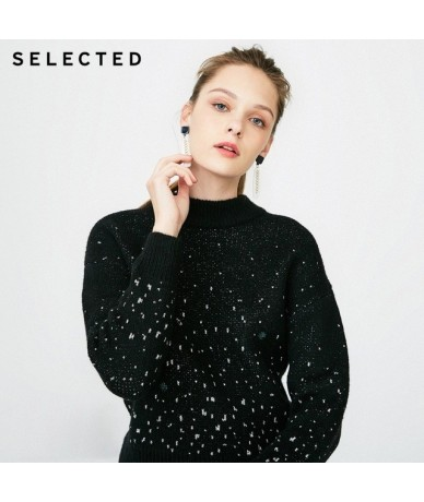 the new thought of blackrock's winter contains wool loose knit sweater S 418425539 - BLACK - 4J3073890820