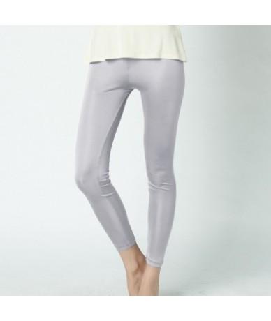 SILK women long Leggings Solid slim leggings Full length Plus size Anti emptied bottoming pants 100%REAL SILK NEW Basic - Si...