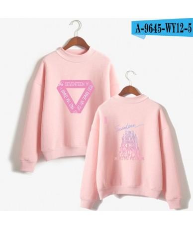 SEVENTEEN 17 Fashion Streetwear Turtlenecks Sweatshirts Women Fashion Fans Capless Sweatshirt Casual Clothes - pink - 4E3082...