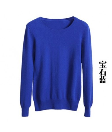 Hot selling New arrival women's Sweater Wool Sweater Female round neck pullover Knit Cashmere Sweater cultivating wild - sap...