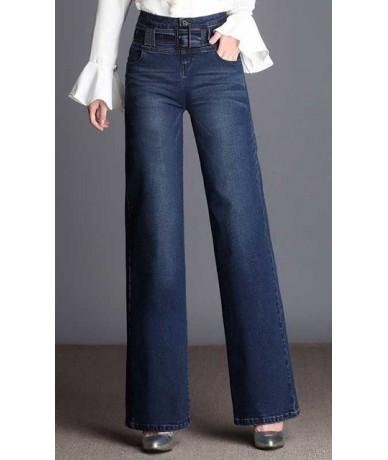 High waist jeans woman 2018 spring Vintage loose casual denim wide leg pants jeans women Plus size full length jeans femme -...
