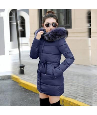 winter jacket women Plus size 2019 New Ukraine 3XL Womens Down Cotton Thicker jackets Hooded Long Coat Female Parkas - blue ...
