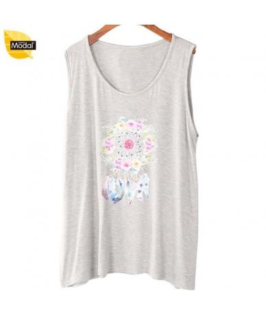 XL-7XL tank top plus size women tops 2018 new summer modal tshirt ladies print bottom U-collar bottoming print T shirts - 9 ...