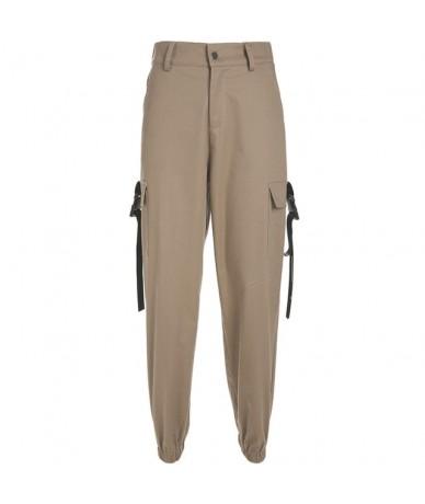 Streetwear Cargo Pants Women Casual Joggers Black High Waist Loose Female Trousers Korean Style Ladies Pants Capri - Khaki -...