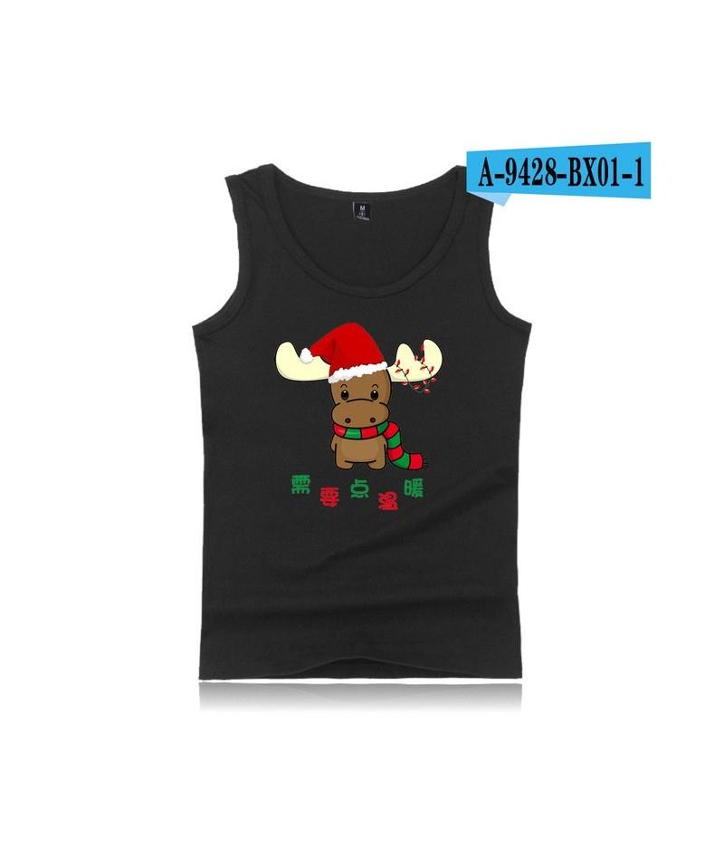 Christmas Casual Men/Women Tank Top K Pop Sleeveless Vest Bodybuilding Harajuku Gymclothing Tank Tops Summer Fitness Bambam ...