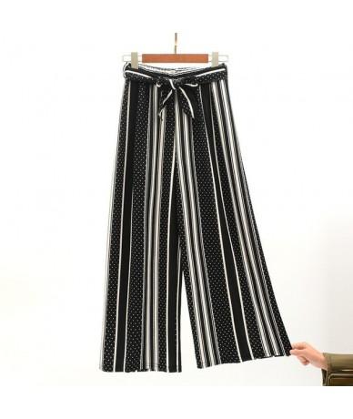 2019 Summer Wide Leg Pants Women Korean Striped Polka Dot Trousers Woman Ankle Length Pants Bell Bottom pantalones mujer - 8...
