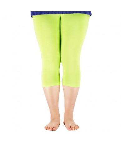 Women's 3/4 length Leggings Bamboo Fiber Plus Size Capri Legging High Stretchy Leggings Pants Basic Leggings - Green - 41413...