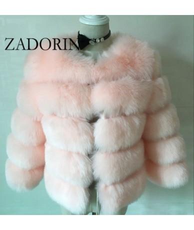 S-3XL Mink Coats Women 2019 Winter Top Fashion Pink FAUX Fur Coat Elegant Thick Warm Outerwear Fake Fur Jacket Chaquetas Muj...