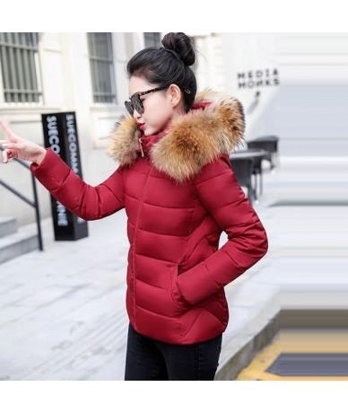 Fake Fur Collar Winter Female Jacket New 2019 Fashion Coat Women Winter Coat Slim Women Parka Warm Hooded Winter Jacket Wome...