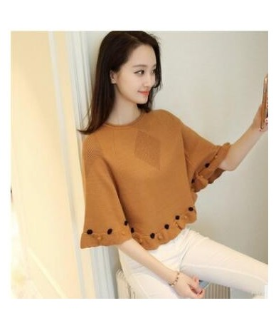 New 2018 Autumn Casual short Female Sweater Coat Batwing Sleeve Women's Ponchoes capes Clothes Pullovers Fashion Clothing - ...