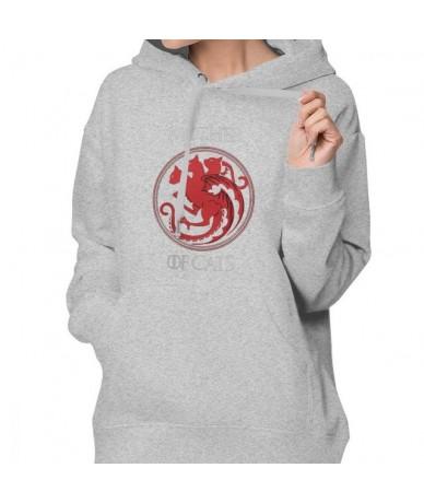 Game Of Thrones Hoodie Mother Of Cats Hoodies Printed Big Sizes Hoodies Women Cotton Simple Blue Long Sleeve Pullover Hoodie...