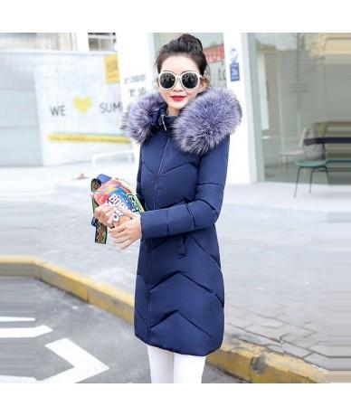 2019 New Fashion Winter Jacket For Women Long Parka Women Fake Raccoon collar Hooded Down Jacket Female Warm Winter Coat Wom...