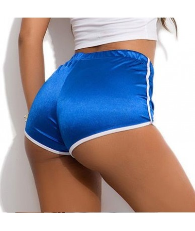 Candy Color Plus Size Wetlook High Waist Booty Shorts Push Up Hip Sexy Hot Short Pole Dance Shiny Micro Mini Short Clubwear ...