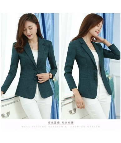 Slim elegant women blazer plus size 5XL 6XL office lady blazers feminino 2019 autumn new arrival - Jasper - 483954805351-5