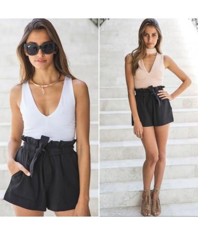 2018 Women New Style Fashion Hot Fashion Women Lady Sexy Summer Casual Shorts High Waist Short Beach Bow Shorts - Black - 4D...
