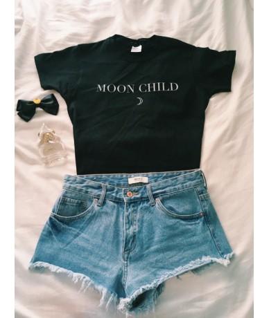 MOON CHILD T-Shirt fashion hipster cool Top Tumblr Tees Women summer graphic High Quality cotton clothing Hip Hop shirts - g...
