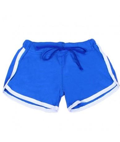 Hot Sale Summer Yo-Ga Drawstring Shorts Women Casual Loose Cotton Short Contrast Binding Side Split Elastic Waist Shorts Fem...