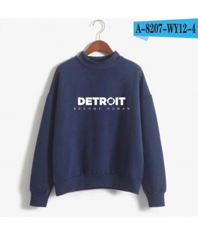 Detroit Become Human Sweatshirt Women Hot Play Game Detroit Hoodies Harajuku Hip Hop Capless Loose Turtleneck Pullovers - Na...