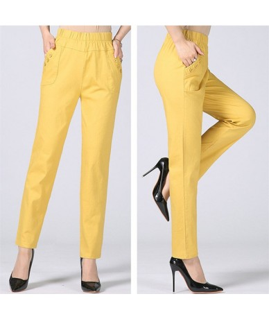 Plus Size 5XL Straight Women Pants Casual Stretch Cotton Trousers Women Pantalon Femme Work Office Ladies High Waist Pants C...