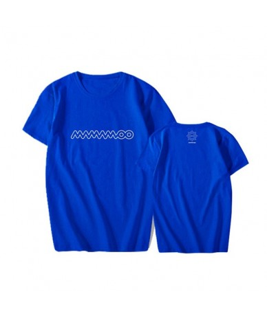 KPOP MAMAMOO Concert BACK STAGE With Men And Women Loose Cotton Short-sleeved T-shirt Summer Dropshipping - Blue - 5Q1111034...