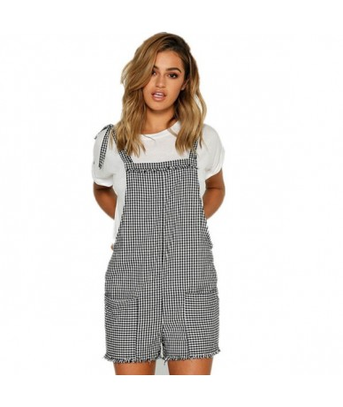 Women Casual Loose Overalls Strap Rompers Dungaree Oversized Trousers Ladies Solid Casual Overalls Summer Playsuits - Multi ...