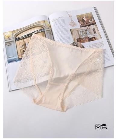 Women Breathable Knickers Lady Silk Underpants Lady Seda Bragas Knickers Woman Oversize Mid Silk Panties Female Lace Short P...