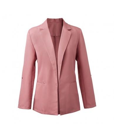 Women Simple Blazer Long Sleeve Open Front Short Cardigan Suit Jacket Work Office Coat autumn women bleiser feminino blaser ...