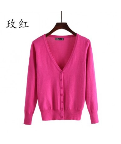 Sweater Women Cardigan plus size Knitted Sweater Coat Crochet Female Casual V-Neck Woman Cardigans Tops 4XL 5XL - 13 - 4Q391...