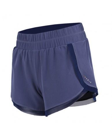 Women Fitness Shorts Slim Anti-Light Butt Hips Lifting Hot Quick-drying Running Moisture Sweat Sportswear Elastic waist - Bl...