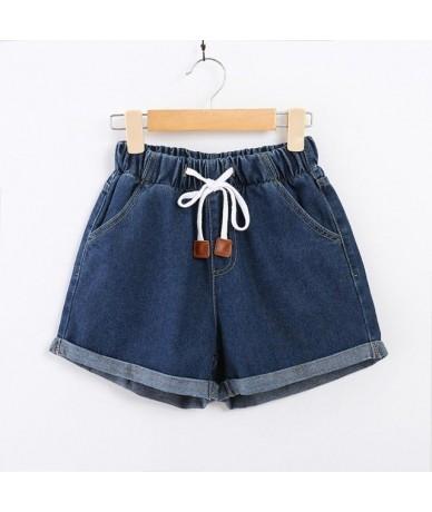 Elastic Drawstring High Waist Denim Shorts Women Jeans Shorts Brand Female Short Pants Summer Casual Cotton Shorts for Women...