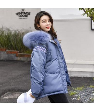 2019 New Fashion Slim Women Fur Winter Jacket Cotton Padded Warm Thicken Ladies Coat short Coats Parka Womens Jackets - Blue...