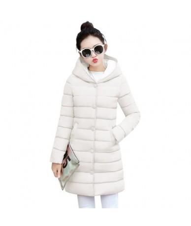 white women winter hooded warm coat plus size Ladies cotton padded jacket female long parka womens wadded jaqueta feminina -...