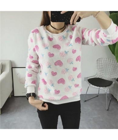 Autumn Winter Harajuku Stars Pullover Sweatshirts 2018 Long Sleeve moletom feminino Flannel Printing Women's Sweatshirt - c2...