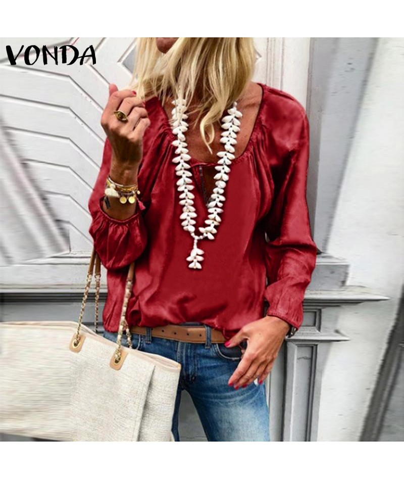 Shirts Women Blouse 2019 Autumn Fashion Female Long Sleeve Tops And Tunic Plus Size Solid Casual Shirts Office Blusas 5XL - ...