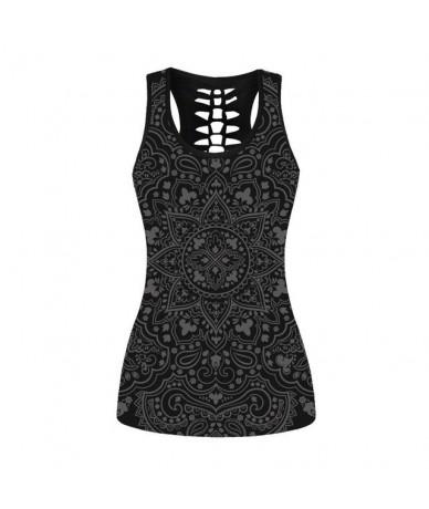 3D Skull Print Women Vest Back Hollow Skull Bride Camiseta Summer Casual Tank Tops Female Girls Vest Women Tops Plus Size 4X...