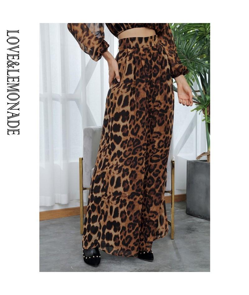 Mid-Rise Leopard Chiffon Wide Leg Pants LM81498 - PIC COLOR - 433024128656