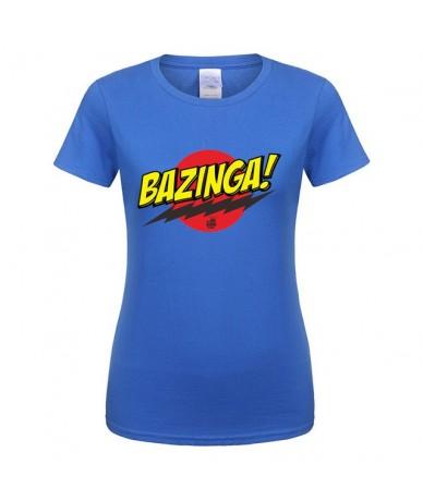 Summer The Big Bang Theory Bazinga T Shirts Women Girl Clothing Tops Cotton Short Sleeve Sheldon Cooper T-shirt - as picture...