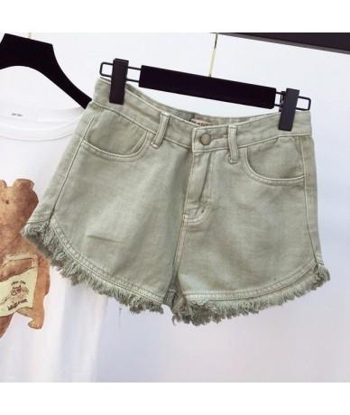 Mini Denim Jeans Short Women Sexy Short Jeans Feminina Punk High Waist Short Summer 2019 Street Wear Solid Jeans Vintage - G...