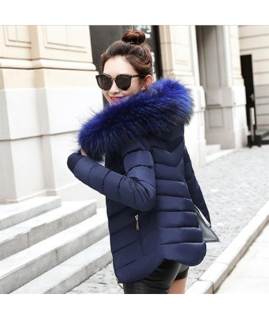 2019 Winter Jacket women Plus Size Womens Parkas Thicken Outerwear solid hooded Coats Short Female Slim Cotton padded basic ...