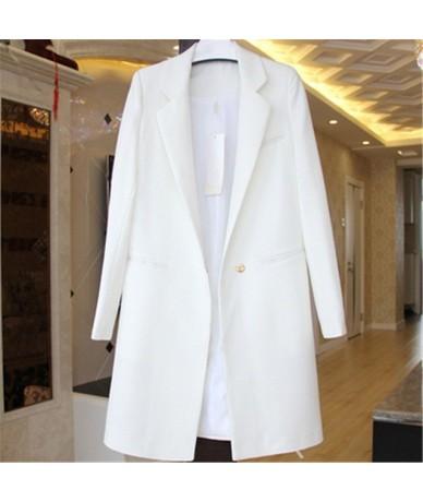 Spring Autumn Blazers Women Suit Plus Size Long Sleeve Jacket Button Casual Tops Female Slim Wild Blazers Windbreaker Coat -...
