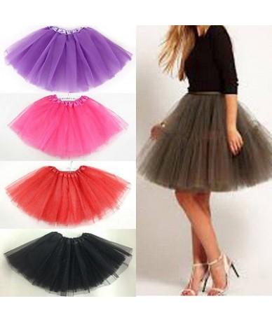 Women/Adult Fancy Dancewear Tutu Pettiskirt Princess Party Skirts Mini Colorful Tutu Lace Sexy Skirts - Orange - 4Q4129478450-8