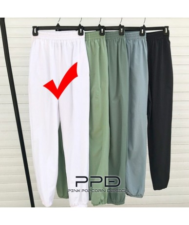 Breathable Elastic Waist Pure Earth Color Casual Sports Trousers - Color-1 - 4I4134937066-1
